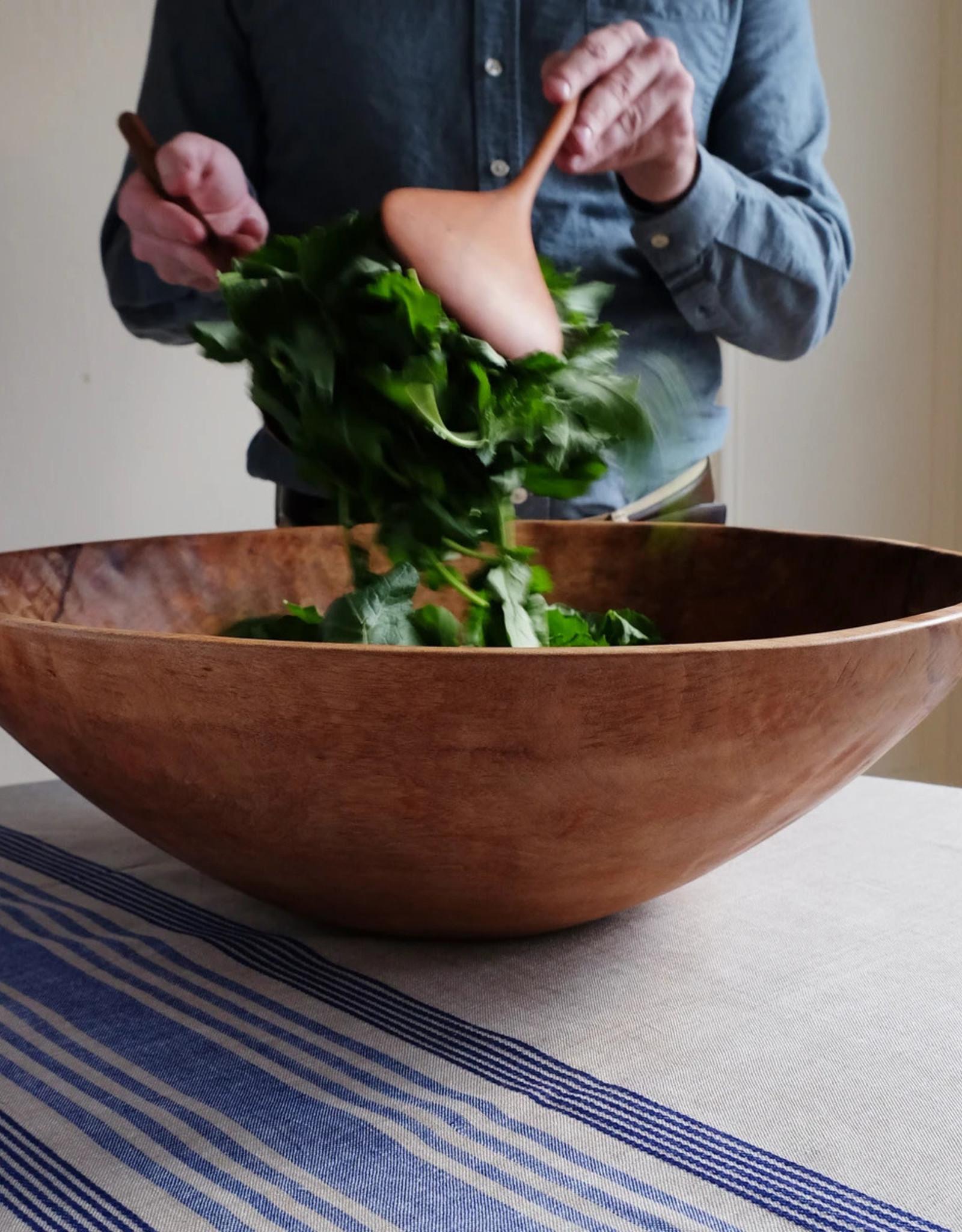 20-inch Round Wood Bowl