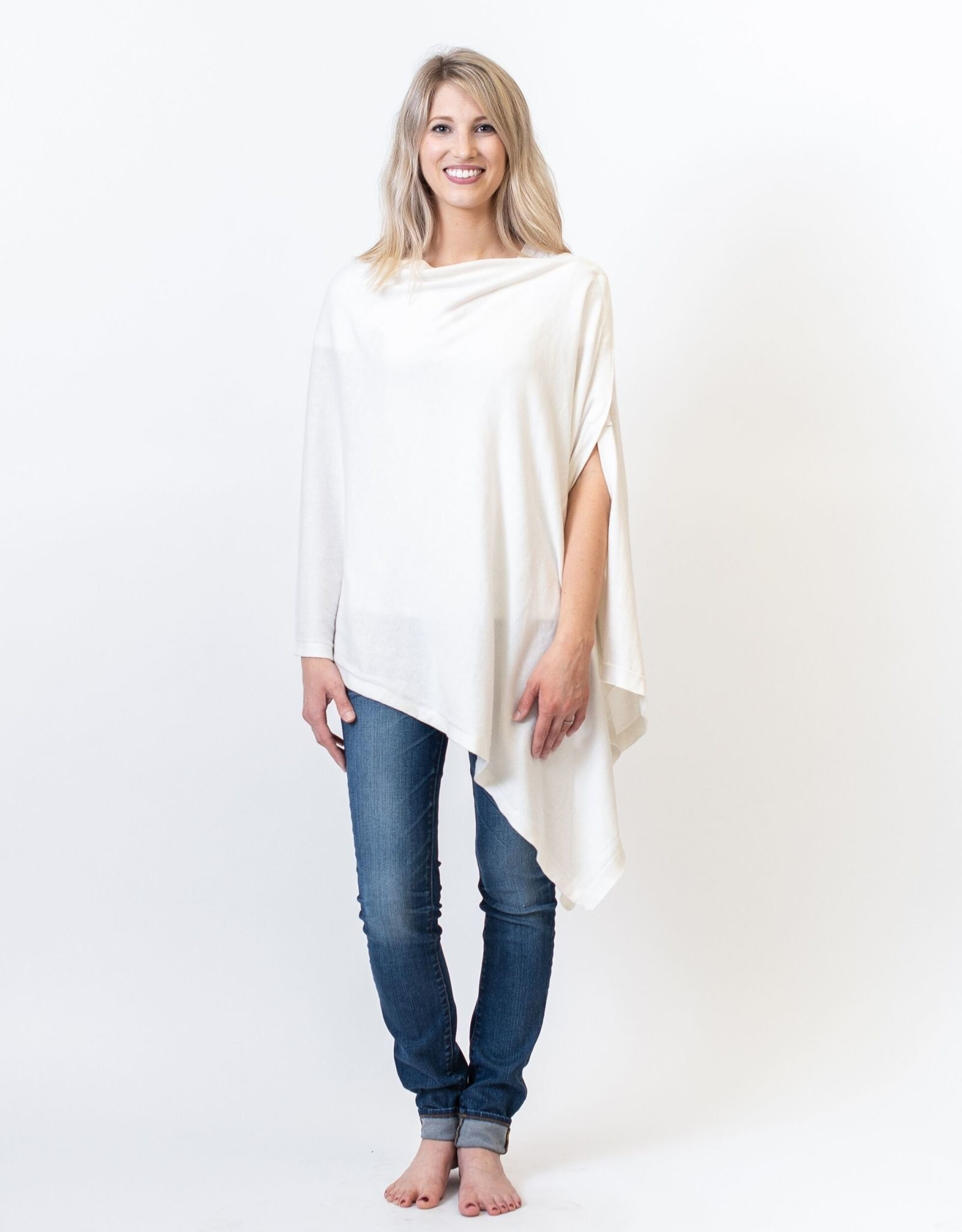 White Poncho/Travel Wrap