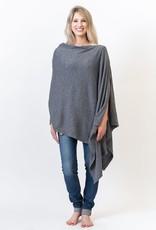 Gray Poncho/Travel Wrap