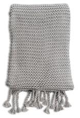 Organic Cotton Grey Knit Blanket