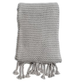 Organic Cotton Grey Knit Blanket