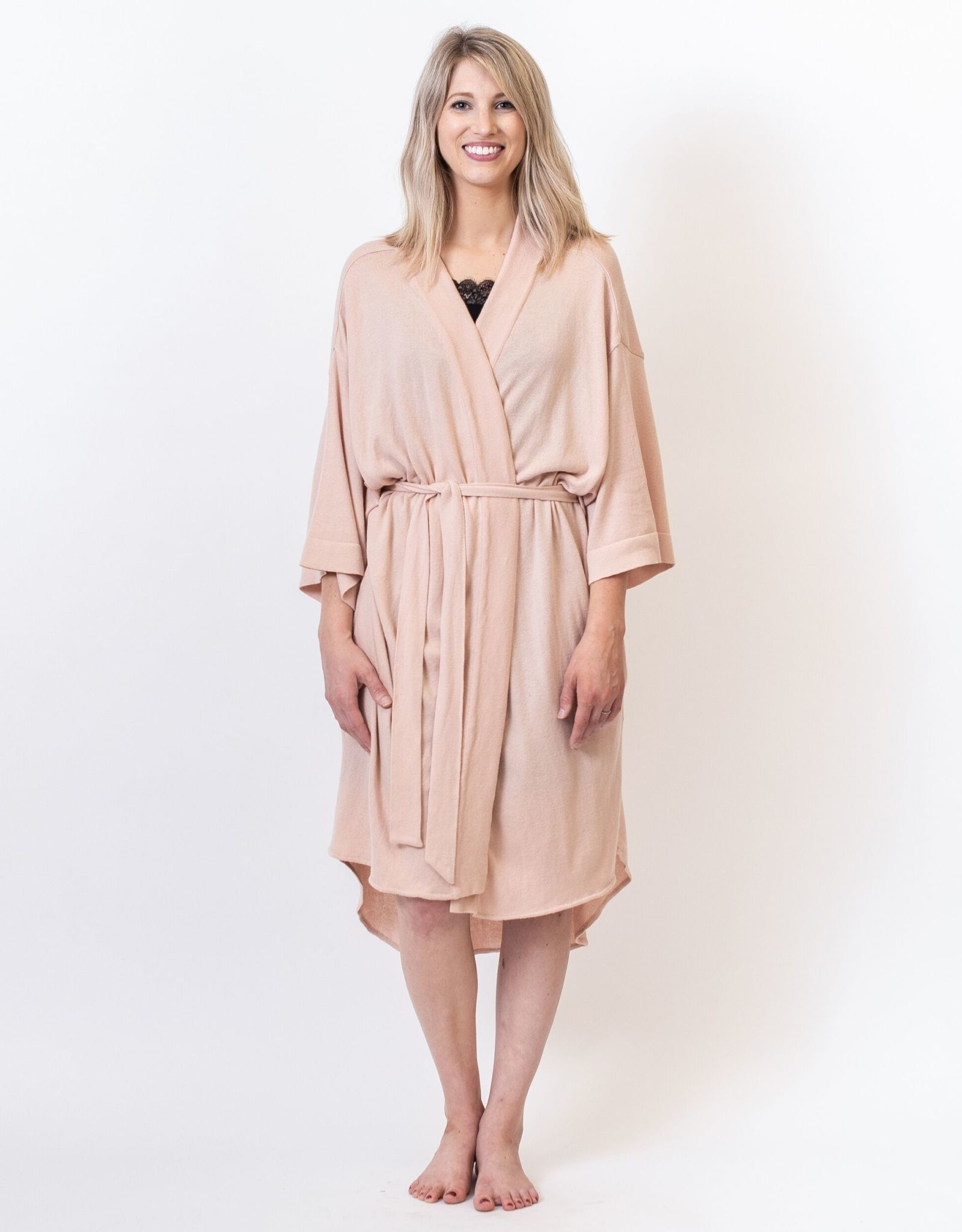Large/Extra Large Organic Cotton Blush Robe