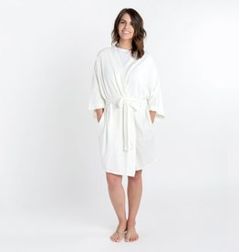 Large/Extra Large Organic Cotton White Robe