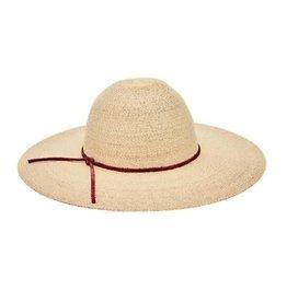 SAN DIEGO HAT Palm Straw Sunbrim Hat with Leather Trim