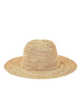 SAN DIEGO HAT Crocheted Raffia Round Crown Sunbrim Hat