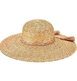 SAN DIEGO HAT Wheat Straw Hat with Braided Trim