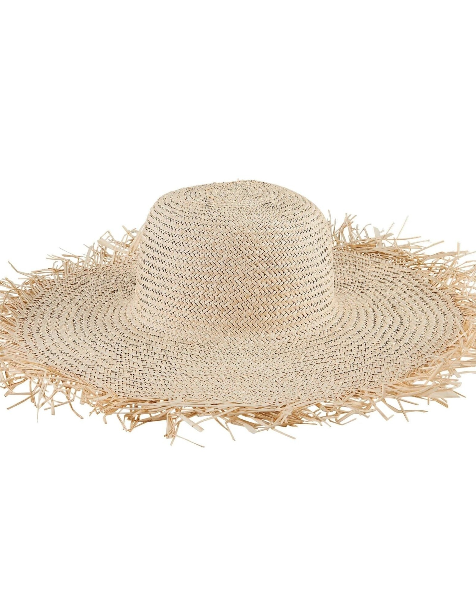 SAN DIEGO HAT Woven Sun Hat with Frayed Edge