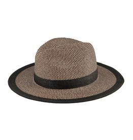 SAN DIEGO HAT Water Repellent Fedora with Black Stripe