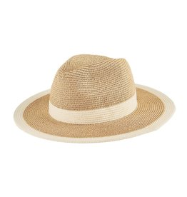 SAN DIEGO HAT Water Repellent Fedora with White Stripe