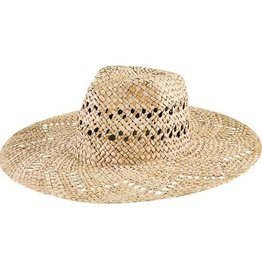 SAN DIEGO HAT Seagrass Fedora with Zigzag Brim