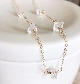 QUINN SHARP Gold Herkimer Diamond Choker