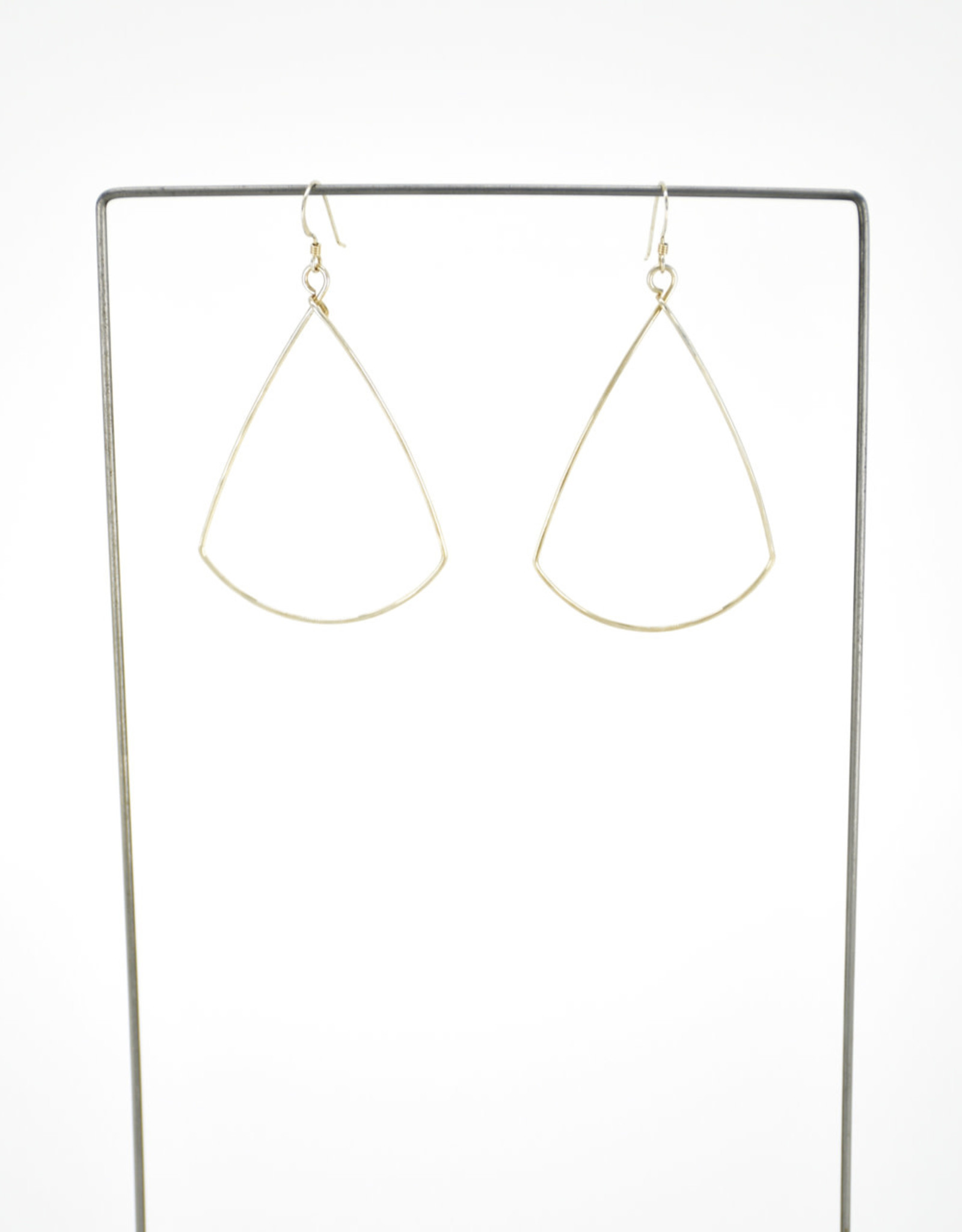Silver Triangle Hoops