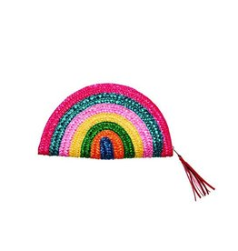 SAN DIEGO HAT Wheat Straw Rainbow Clutch
