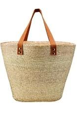 SAN DIEGO HAT Palm Straw Carry All Basket