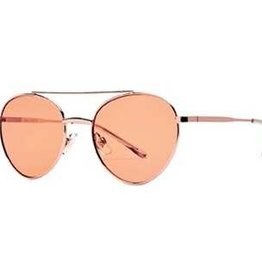 SAN DIEGO HAT Metal Aviator Sunglasses with Orange Tint