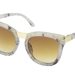 SAN DIEGO HAT Square Tortoise Sunglasses with Gold Accents