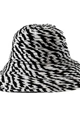 SAN DIEGO HAT Black and White Ribbon Hat