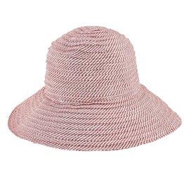 SAN DIEGO HAT Red Striped Raw Edge Hat