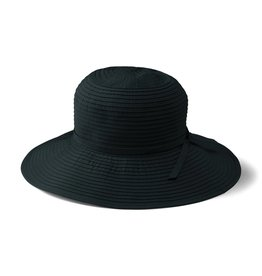 SAN DIEGO HAT Medium Brim Ribbon Hat - Black