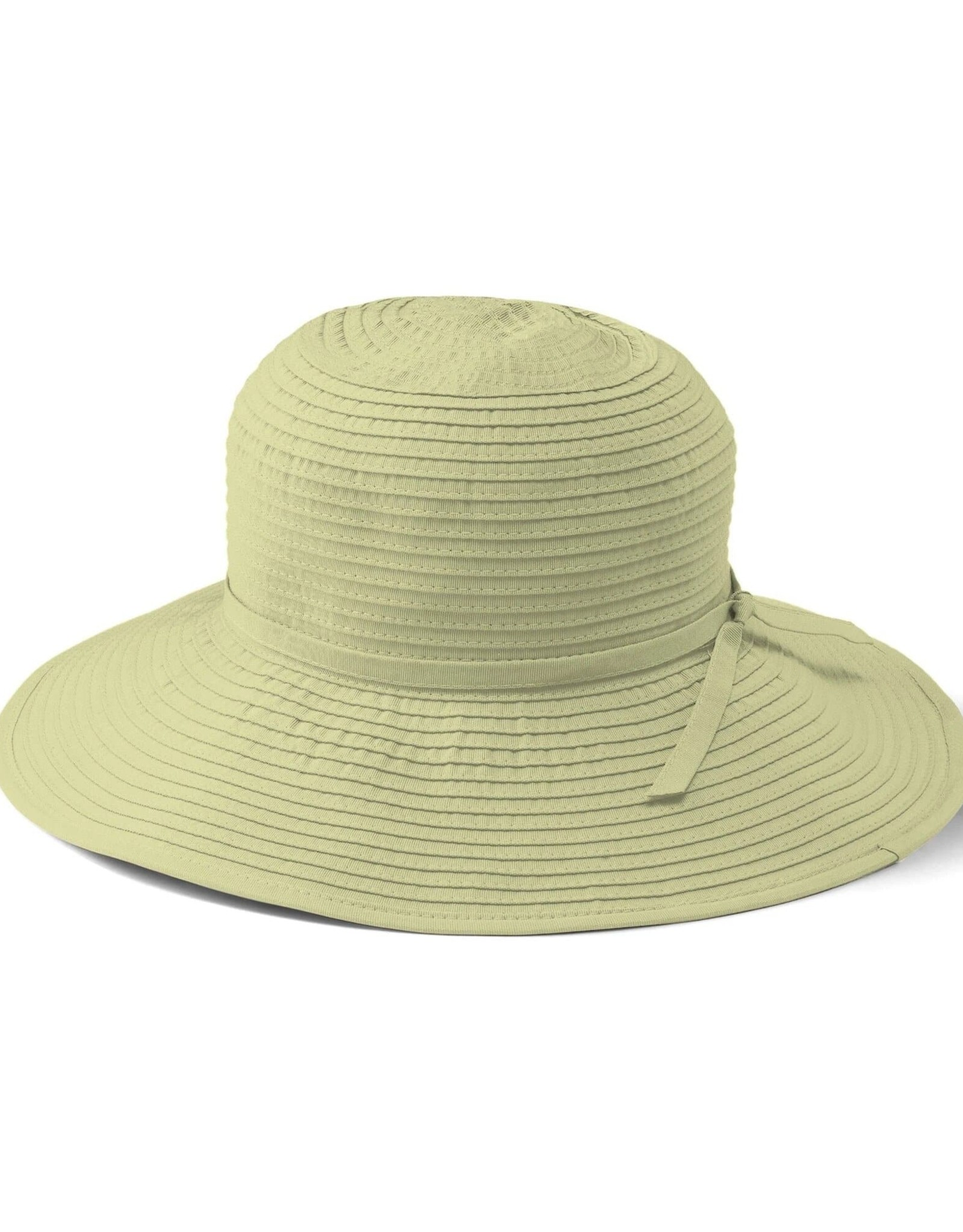SAN DIEGO HAT Medium Brim Ribbon Hat - Cream