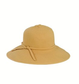 SAN DIEGO HAT Medium Brim Ribbon Hat - Beige