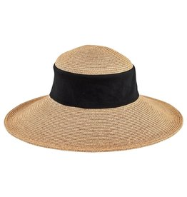 SAN DIEGO HAT Collapsible Crown Sun Hat with Black Inset