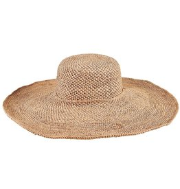 SAN DIEGO HAT Crocheted Raffia Wide Brim Floppy Hat
