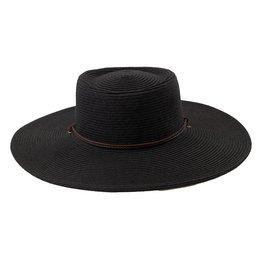 SAN DIEGO HAT Ultrabraid Oval Crown Floppy Hat - Black