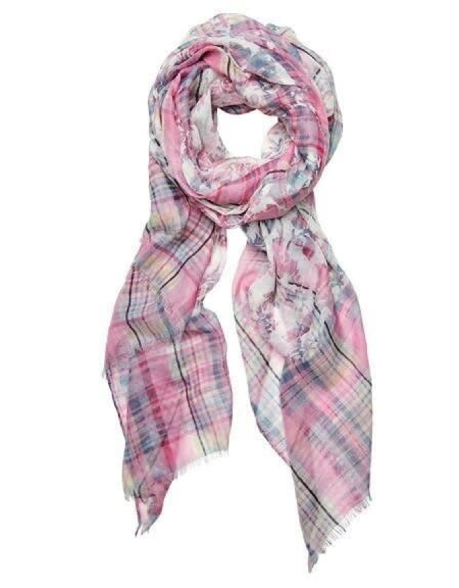 SAN DIEGO HAT Pink Checkered Scarf