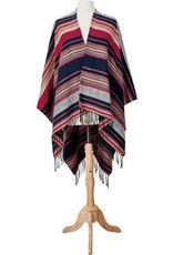 SAN DIEGO HAT Multi-color Jacquard Poncho