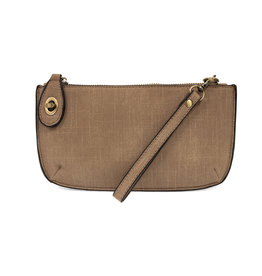 JOY SUSAN Faux Linen Clutch - Cocoa