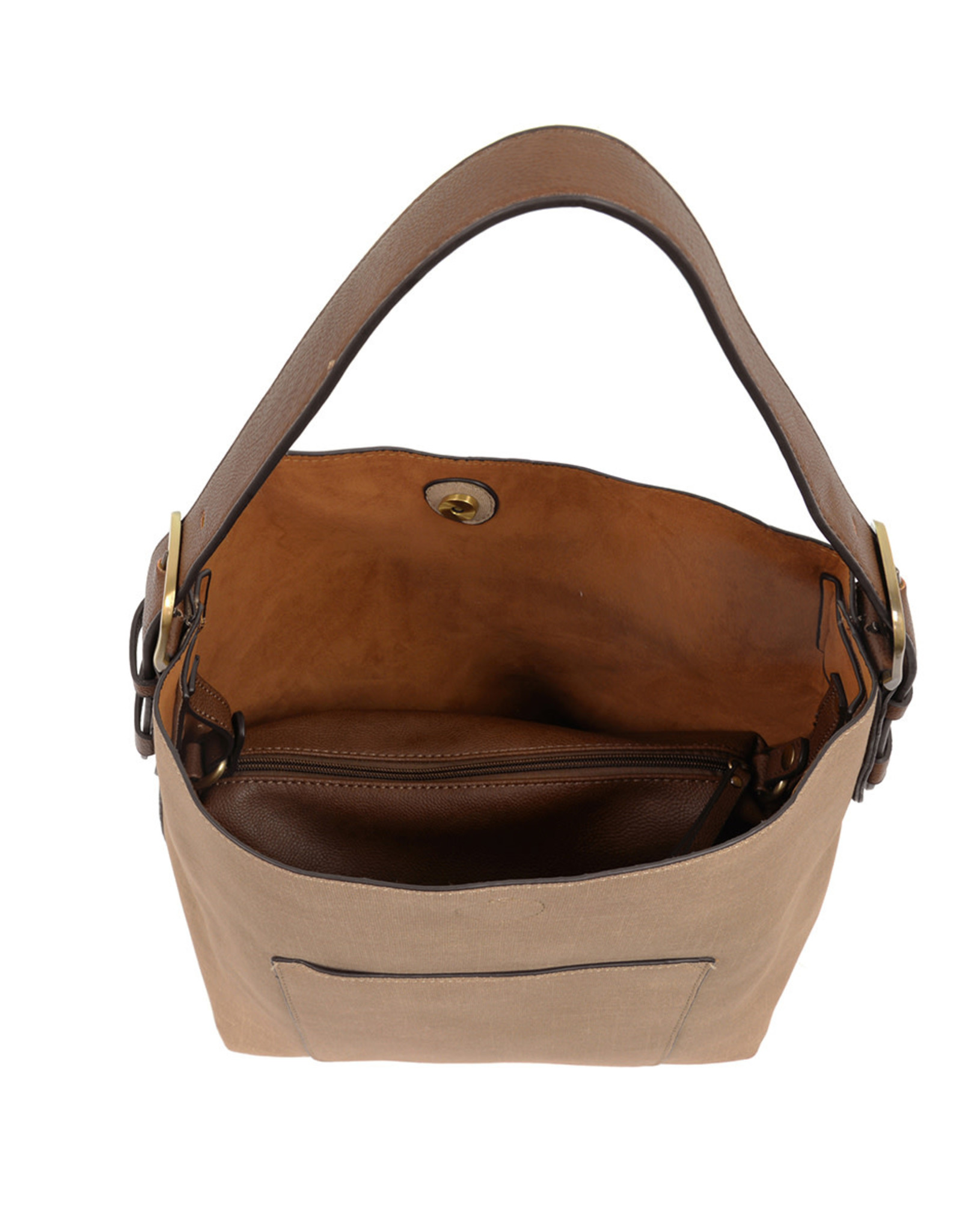 Hobo Handbag - Taupe/Coffee