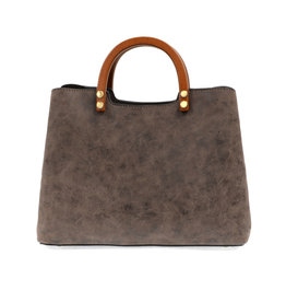 JOY SUSAN Angie Vintage Satchel - Chololate