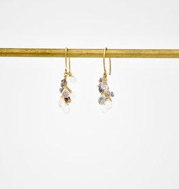 TREE MYRIAH Moonstone Cluster Earrings
