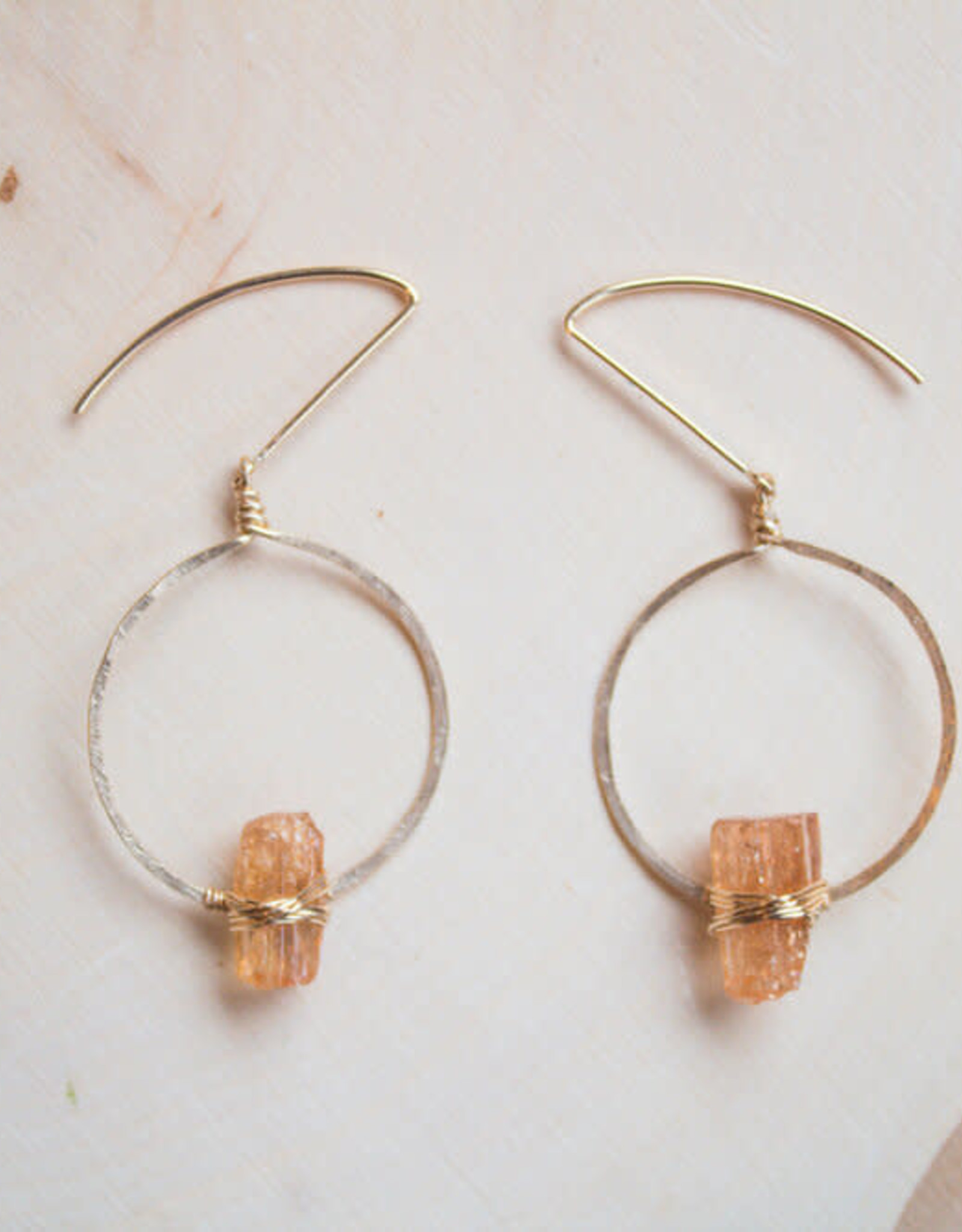 CRYSTAL & GOLD Topaz Balance Earrings