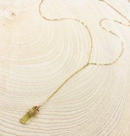 Golden Apatite Necklace