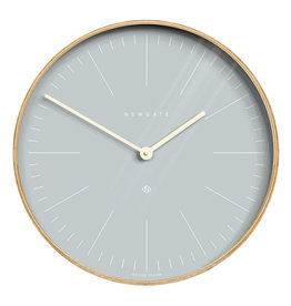 NEWGATE CLOCKS Mr Clark - Pale Wood and  Pill Blue dial