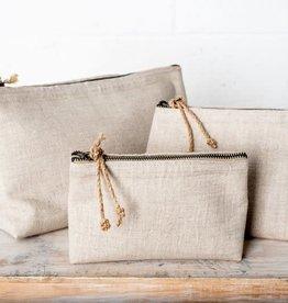 Linen Cosmetic Bag - Medium Natural