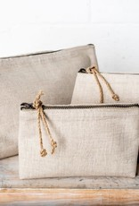 Linen Cosmetic Bag - Small Natural