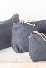 Linen Cosmetic Bag - Small Charcoal