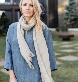 Linen Scarf - Sheer Natural
