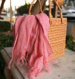 Linen Scarf - Sheer Dusty Rose