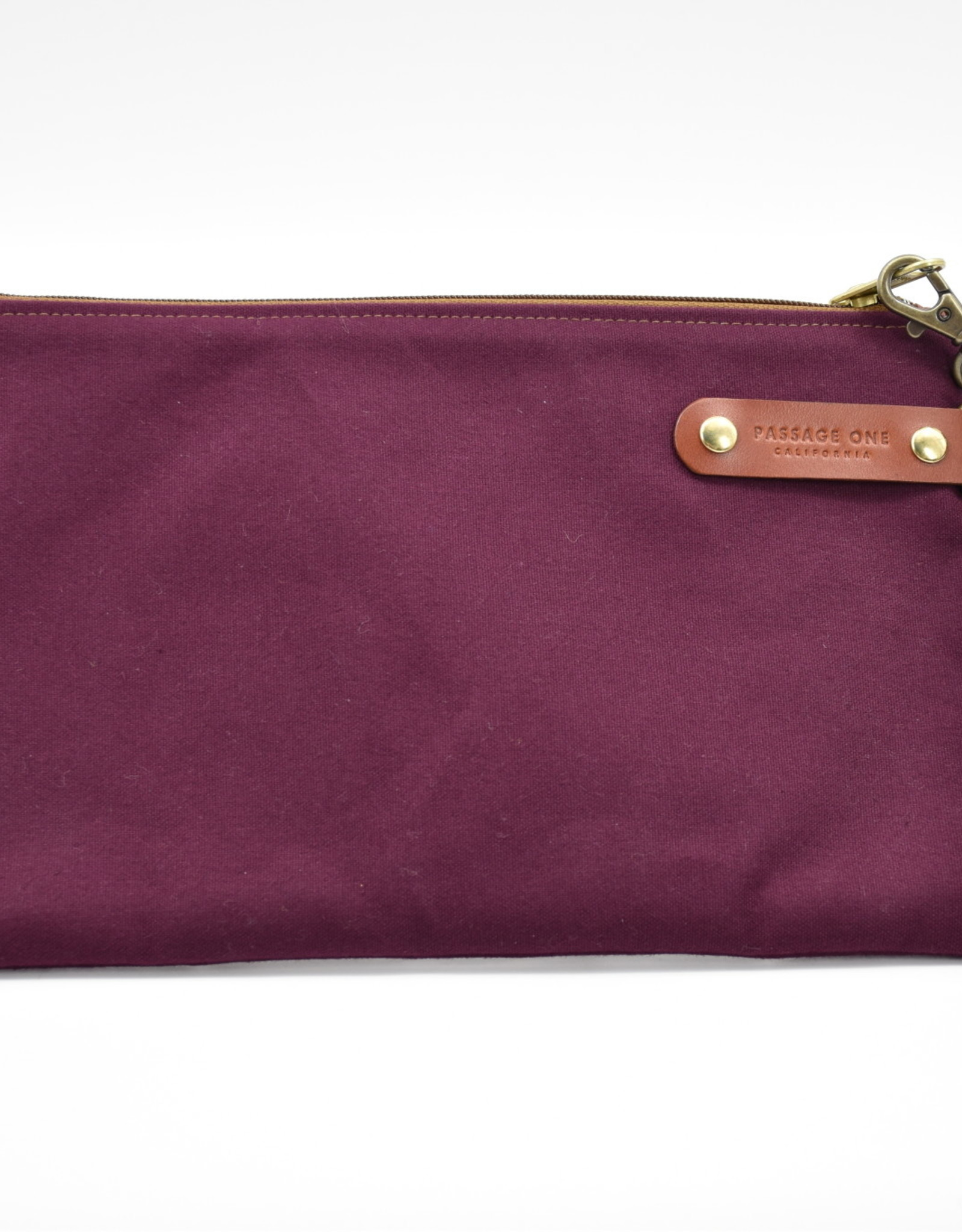Airporter Clutch with Leather Loop - Burgundy