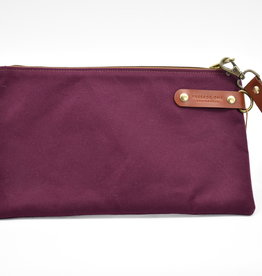 PASSAGE ONE Airporter Clutch with Leather Loop - Burgundy