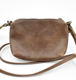 Jackie Leather Purse - Walnut