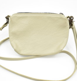 Jackie Leather Purse - Bone