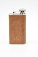 Stainless Steel and Wood Veneer Flask