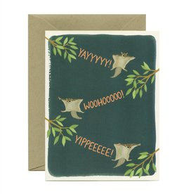Graduation Card - Yayyyyy! Flying Squirrels
