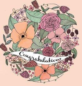 Graduation Card - Pink Floral Congratulations