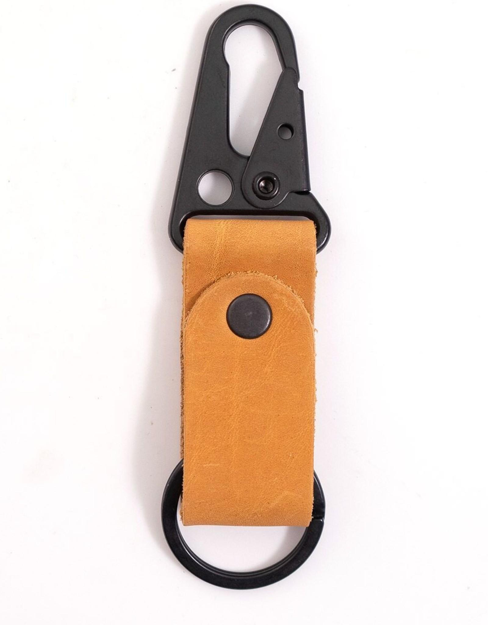 Buckskin Leather Keychain Clip